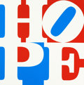 Post-War & Contemporary:Pop, ROBERT INDIANA (American, b. 1928). Hope, 2008. Oil oncanvas. 24 x 24 inches (61.0 x 61.0 cm). Ed. AP 1/1. Signed andd...