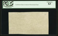 "Fractional Currency:First Issue, ""CSA"" Watermarked Paper - Single Block. PCGS Choice New 63.. ..."