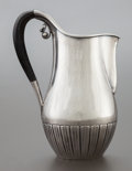 Silver Holloware, Continental:Holloware, A GEORG JENSEN DANISH SILVER AND EBONIZED WOOD CREAM PITCHERDESIGNED BY JOHAN ROHDE . Georg Jensen, Inc., Copenhagen, Denma...