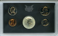 Proof Sets, 1970 10C No S Proof Set Uncertified. A complete 1970 proof set in the government plastic holder and blue cardboard box, inc... (Total: 5 coins)