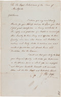 Autographs:Military Figures, [Revolutionary War]. Thomas Gage Autograph Letter Signed...