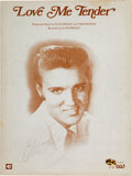 Entertainment Collectibles:Music, Elvis Presley Sheet Music Signed....