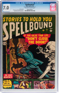 Golden Age (1938-1955):Horror, Spellbound #7 (Atlas, 1952) CGC FN/VF 7.0 Off-white to whitepages....