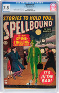 Golden Age (1938-1955):Horror, Spellbound #5 (Atlas, 1952) CGC VF- 7.5 Off-white pages....