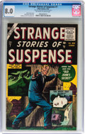 Golden Age (1938-1955):Science Fiction, Strange Stories of Suspense #7 (Atlas, 1956) CGC VF 8.0 Off-whiteto white pages....