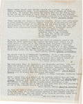 Miscellaneous:Ephemera, [Martin Luther King, Jr.]. Carbon Copy of Quotes Used in StrideToward Freedom with Transmittal Envelope and Relat... (Total: 2)