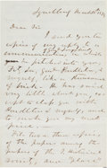 Autographs:Military Figures, Jubal A. Early Autograph Letter Signed...