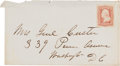 Autographs:Military Figures, George Custer Cover Addressed in His Hand. ...