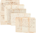 Miscellaneous:Ephemera, [Slavery]. Group of Five Slavery Related Receipts,... (Total: 5Items)