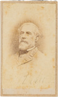 Photography:CDVs, Robert E. Lee Carte de Visite Signed....
