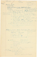 Autographs:U.S. Presidents, Richard M. Nixon: Nine Pages of Handwritten Notes....