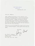 Autographs:U.S. Presidents, [Watergate]. Archive of Ten Typed Letters Signed by Richard Nixon (5), Gerald Ford (3), John Mitchell (1), and Richard Kleindi...