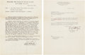 Autographs:Military Figures, George Patton Typed Letters (Two) Signed... (Total: 2 Items)