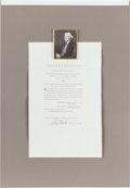 Autographs, Thomas Jefferson Printed Act of Congress Signed...