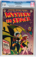 Golden Age (1938-1955):Science Fiction, Mystery in Space #2 (DC, 1951) CGC VF- 7.5 Off-white to whitepages....