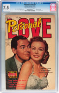 Golden Age (1938-1955):Romance, Personal Love #24 (Famous Funnies, 1953) CGC VF- 7.5 Off-white to white pages....