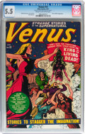 Golden Age (1938-1955):Horror, Venus #13 (Timely, 1951) CGC FN- 5.5 Cream to off-white pages....