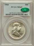 Franklin Half Dollars: , 1960 50C MS65 PCGS. CAC. PCGS Population (608/22). NGC Census:(1122/23). Mintage: 6,000,000. Numismedia Wsl. Price for pro...