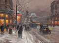 Fine Art - Painting, European:Contemporary   (1950 to present)  , EDOUARD-LÉON CORTÈS (French, 1882-1969). Place de République,Paris, circa 1950s. Oil on canvas. 13 x 18 inches (33.0 x ...