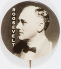 Political:Pinback Buttons (1896-present), Franklin D. Roosevelt: Real Photo Button from 1932....