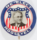 Political:Pinback Buttons (1896-present), Franklin D. Roosevelt: Graphic Picture Pin....