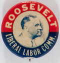 Political:Pinback Buttons (1896-present), Franklin D. Roosevelt: Labor Related Picture Pin....