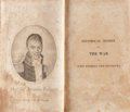 Books:Americana & American History, A. Lacarriere Latour. Historical Memoir of the War in WestFlorida and Louisiana in 1814-15. Conrad, 1816. First...