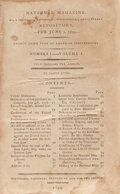 Books:Americana & American History, James Lyon. National Magazine. Bound Group of VariousIssues. [Lyon], 1799-1800. First edition. Lawrence Washi... (Total:2 Items)