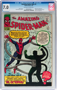 The Amazing Spider-Man #3 (Marvel, 1963) CGC FN/VF 7.0 Off-white to white pages
