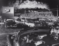 O. WINSTON LINK (American, 1914-2001) Hot Shot Eastbound at the Iaeger Drive-In, West Virginia, 1956