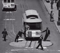 Photographs, MAX YAVNO (American, 1911-1985). Untitled (Cable Car), 1947. Gelatin silver; printed later. 15-1/8 x 17-1/8 inches (38.4...