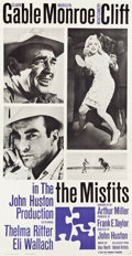 "Movie Posters:Drama, The Misfits (United Artists, 1961). Three Sheet (41"" X 78"").. ..."