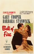 "Movie Posters:Comedy, Ball of Fire (RKO, 1941). Window Card (14"" X 22"").. ..."