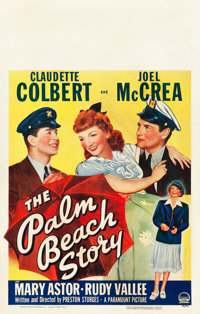 "The Palm Beach Story (Paramount, 1942). Window Card (14"" X 22""). Comedy"