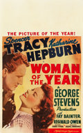 """Movie Posters:Comedy, Woman of the Year (MGM, 1942). Window Card (13.5"""" X 21.5"""").. ..."""