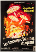 """Movie Posters:Science Fiction, Earth vs. the Flying Saucers (Columbia, 1956). French Grande (44"""" X63"""").. ..."""