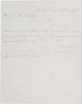 Autographs:Celebrities, Belva A. Lockwood Autograph Letter Signed....