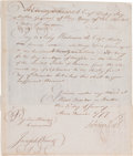 Autographs:Military Figures, [Revolutionary War]. Artemas Ward Pay Warrant Signed...