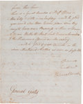 Autographs:Military Figures, [Revolutionary War]. General John Stark Letter Signed to General Horatio Gates....