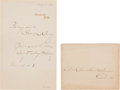 Autographs:Celebrities, Mary Baker Eddy Autograph Note Signed...