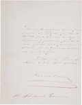 Autographs:Non-American, Maximilian of Mexico Document Signed....
