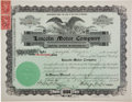 Autographs:Inventors, Henry M. Leland Stock Certificate Signed....