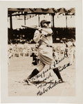 Autographs:Celebrities, Babe Ruth Inscribed Photograph Signed, circa 1932....