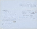 Autographs:Military Figures, Ambrose P. Hill Free Frank Signature. ...