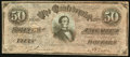 Confederate Notes:1864 Issues, CT66/501 Counterfeit $50 1864.. ...
