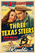 "Movie Posters:Western, Three Texas Steers (Republic, 1939). One Sheet (27"" X 41"").. ..."