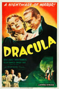 "Movie Posters:Horror, Dracula (Universal, R-1947). One Sheet (27"" X 41"").. ..."