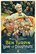 "Movie Posters:Comedy, Love and Doughnuts (Associated Producers, 1921). One Sheet (27"" X41"").. ..."