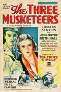 "Movie Posters:Serial, The Three Musketeers (Mascot, 1933). One Sheet (27"" X 41""). Chapter1 --""The Fiery Circle."". ..."