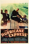 "Movie Posters:Serial, The Hurricane Express (Mascot, 1932). One Sheet (27"" X 41"").Chapter 6 -- ""The Airport Mystery."". ..."